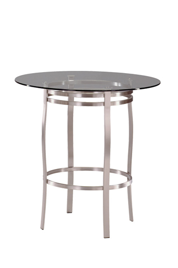 Trica Bourbon Table with Round Glass