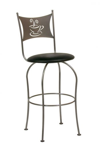 Trica Cafe Swivel Bar Stool W Coffee Or Tea Cup Design Ships Free