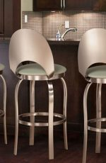 Trica Champagne Swivel Stool for Ultra Modern Kitchens