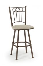 Trica Charles 1 Swivel Stool with Fence Back Design