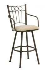 Trica Charles 2 Swivel Stool with Arms