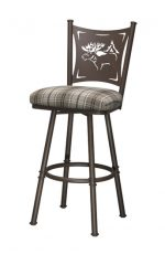 Trica Creation Collection Swivel Stool with Elk Back