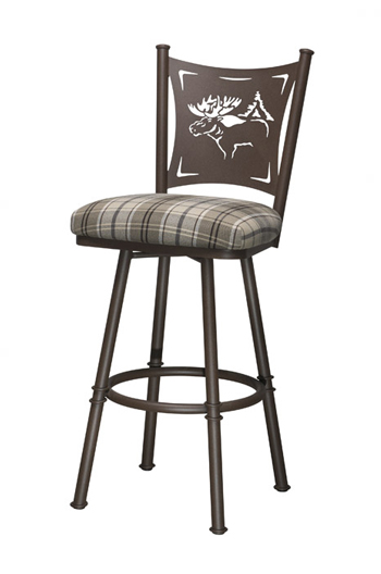 ... Trica Creation Collection Swivel Stool with Elk Back ...  sc 1 st  Barstool Comforts & Trica Creation Swivel Stool: Palm Trees Motorcycle or Wine Backs islam-shia.org