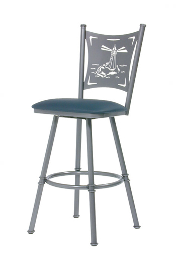 Trica Creation Swivel Stool Palm Trees Motorcycle Or