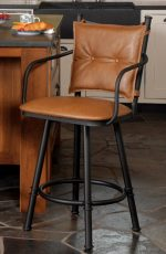 Trica Creation Collection 2 Swivel Stool with Arms and Button-Tufted Back