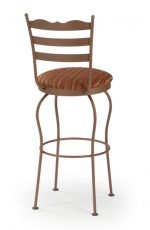 Trica Latte Swivel Stool with Fabric Seat