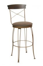 Trica Laura Swivel Stool with Round Upholstered Seat