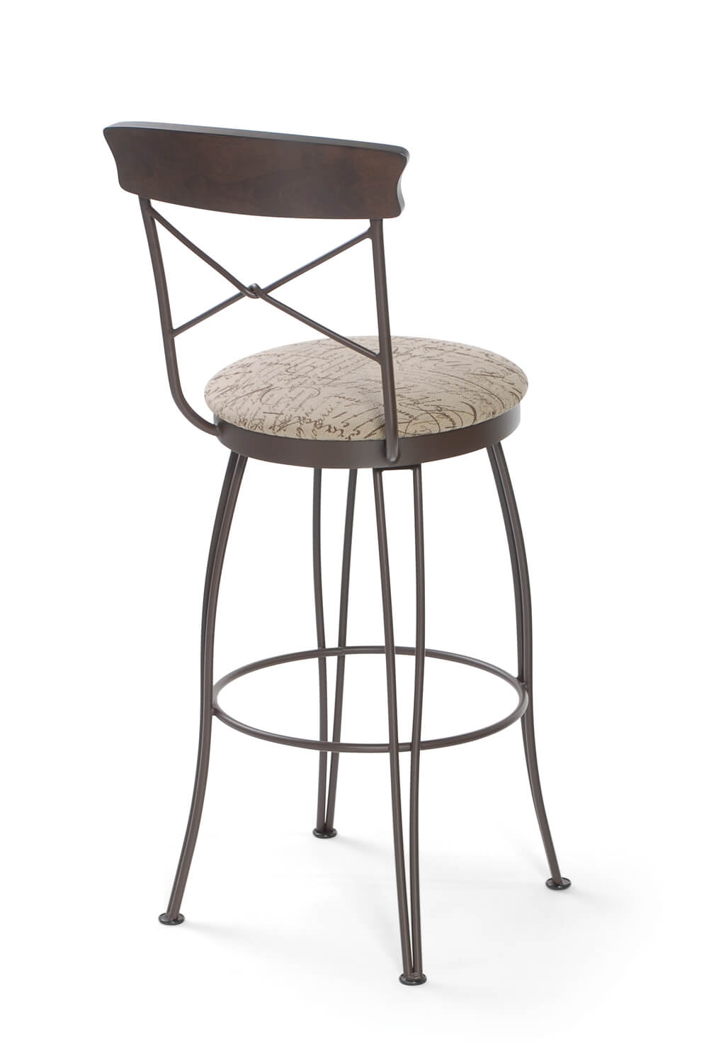 Tricas Laura Swivel Counter Or Bar Stool W Cross Back Free Shipping
