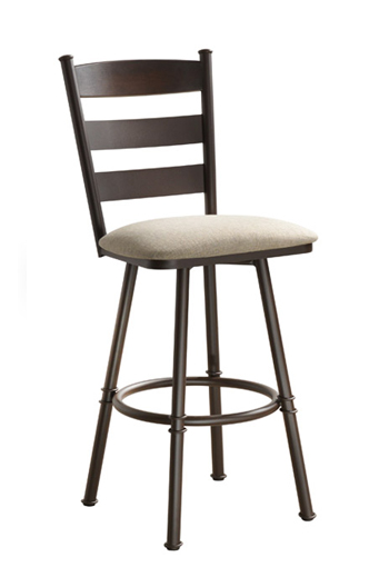 Louis Swivel Stool with Back