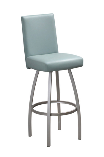 Nicholas Swivel Counter Stool with Upholstered Seat and Backrest
