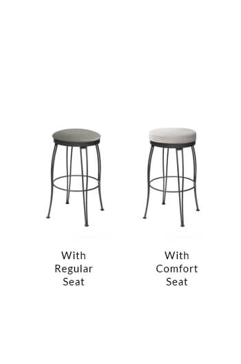 Trica S Pat Backless Swivel Counter Stool W Hairpin Legs