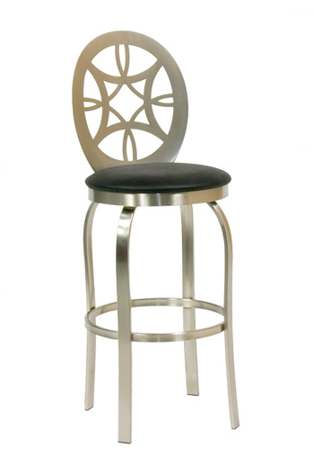 Provence Swivel Stool with Brushed Steel