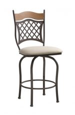 Trica Raphael Swivel Stool with Basket-Weave Style on Back