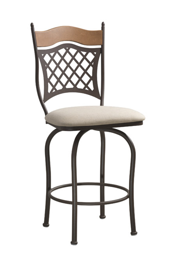 Raphael 1 Swivel Stool with Lattice Backrest