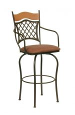 Trica Raphael Swivel Stool with Arms