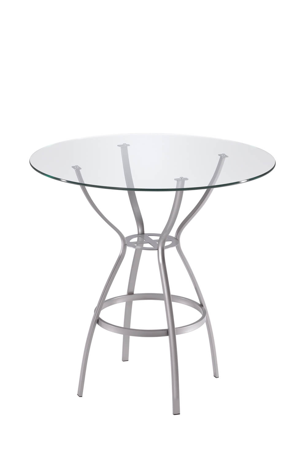 Rome Table with Round Glass