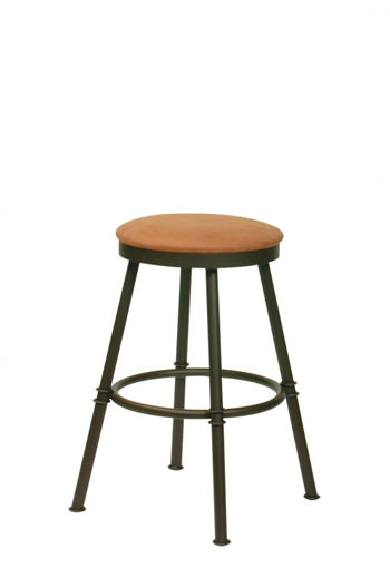 Trica S Sal Backless Steel Swivel Stool 24 Inch Or 30
