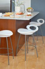 Solo Stool, a Funky and Modern Low Back Stool by Trica