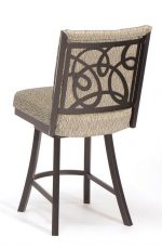 Trica's Swirl and Comfortable Upholstered Swivel Counter Stool with Swirl Back Design