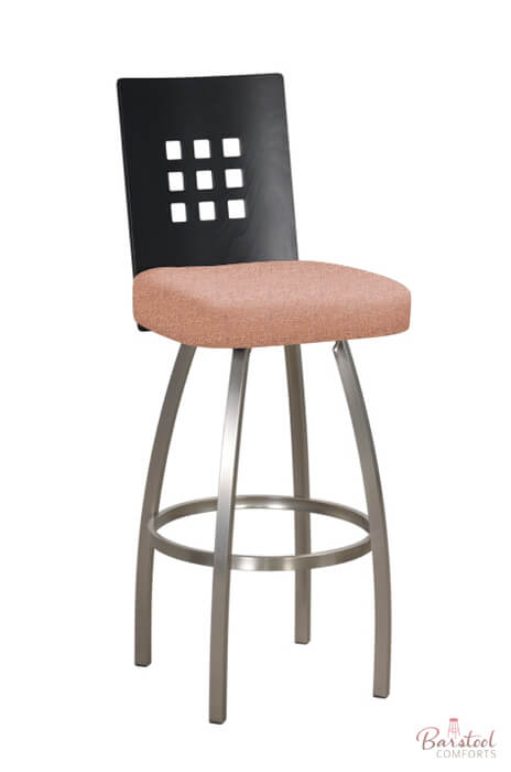 Trica Tristan Swivel Stool W 9 Squares On Back Modern