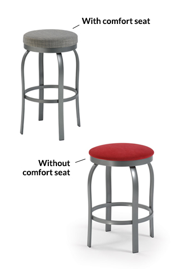 trica truffle stool available in regular seat cushion or thicker seat cushion