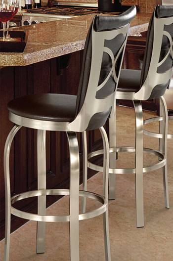 Trica S Tuscany 1 Modern Swivel Stool W Brushed Steel Free Shipping