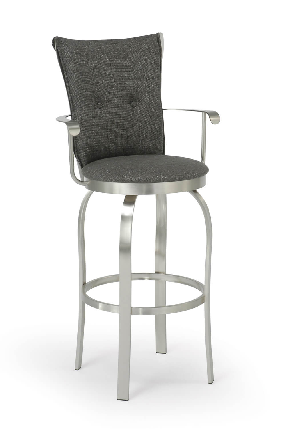 Trica Tuscany Swivel Stool W Arms Available In Leather