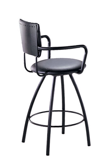 Trica Zip Swivel Stool W Arms Amp Round Seat Unique