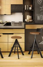 Amisco Uplift Screw Stool for Modern Kitchens