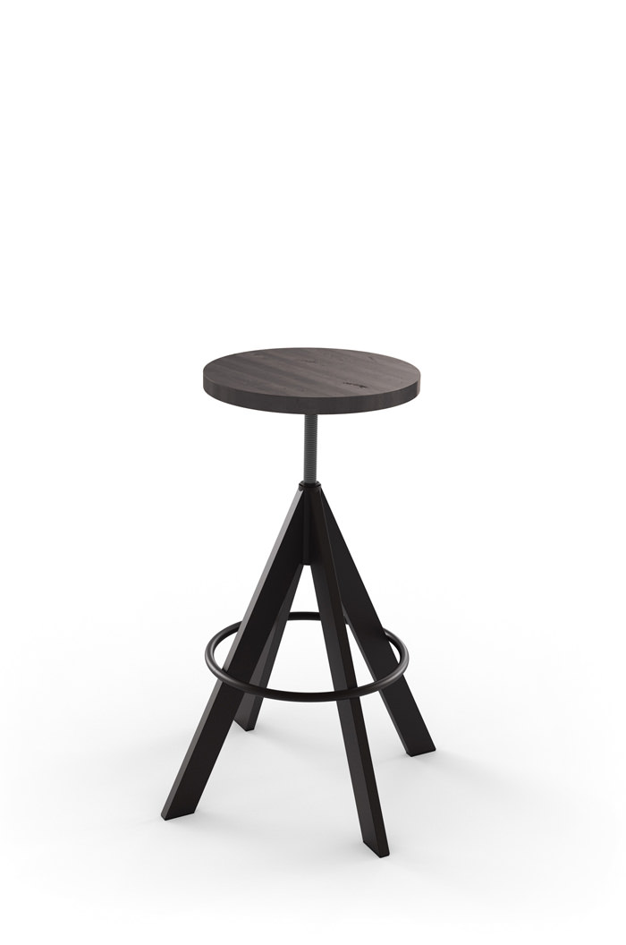 Amisco Uplift Backless Adjustable Stool Modern Free