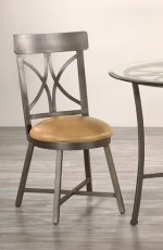 Metal Finish: Aged Steel • Seat Fabric: Cantina Peanut