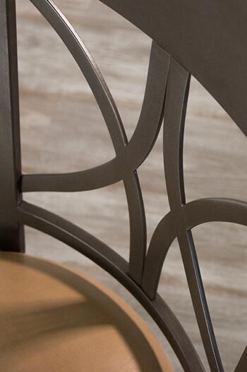 Wesley Allen S Camarillo Iron 18 Quot Dining Chair W Cross