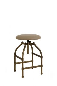 Wesley Allen's Dodge Industrial Backless Adjustable Bar Stool with Round Seat