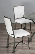 Metal Finish: Silver Bisque • Seat Fabric: Aspen Pure White