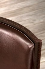 Houston Casual Dining Chair, Upholstered in Leather