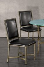 Metal Finish: Antique Verde • Seat Fabric: Cantina Black