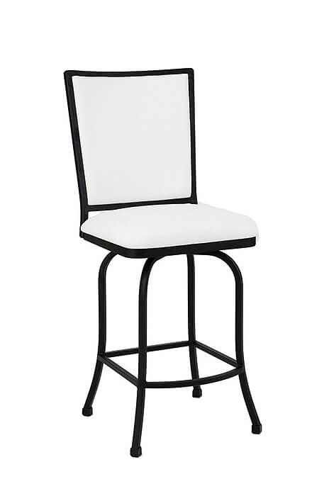 Morrison Upholstered Luxury Iron Swivel Counter Stool In