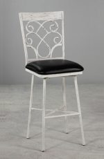 Metal Finish: Distressed White  • Seat Fabric: Cantina Black