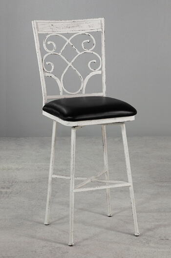 Wesley Allen's Woodward Swivel Stool in Distressed White