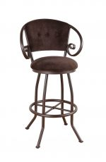 Callee Walton Swivel Stool with Padded Back