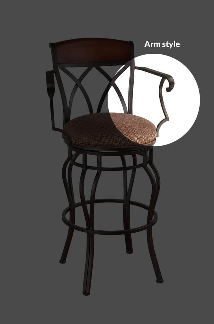 Callee Hamlet Swivel Stool Tuscan Style Free Shipping