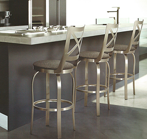 Stainless steel kitchen with brushed steel bar stools & Buy Brushed Steel Bar Stools u2014 Free Shipping! u2022 Barstool Comforts islam-shia.org