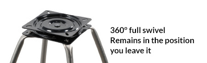 360-degree swivel