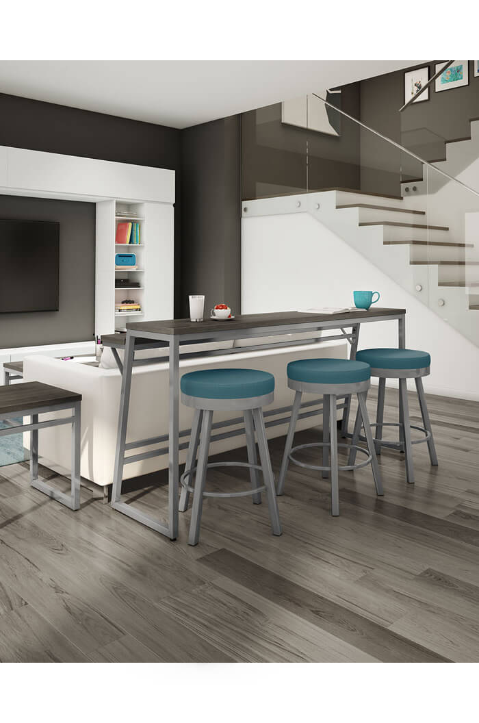 Take A Bite Out Of 24 Modern Dining Rooms: Amisco Rudy Backless Swivel Stool For Modern Kitchens