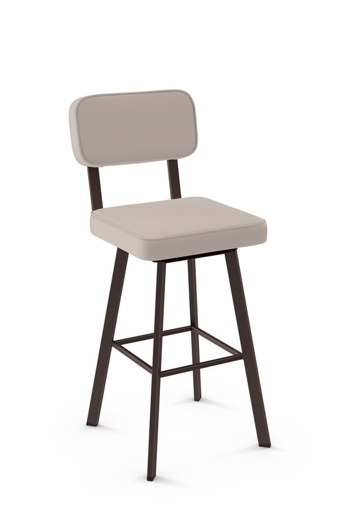 Buy Amisco Brixton Upholstered Swivel Bar Stool Free