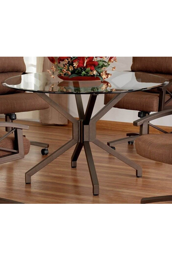Callee Daytona Dining Table with Round Glass Top