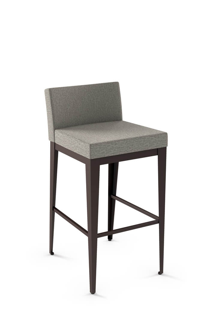 Amisco Ethan Minimal Modern Stool With Low Back Free