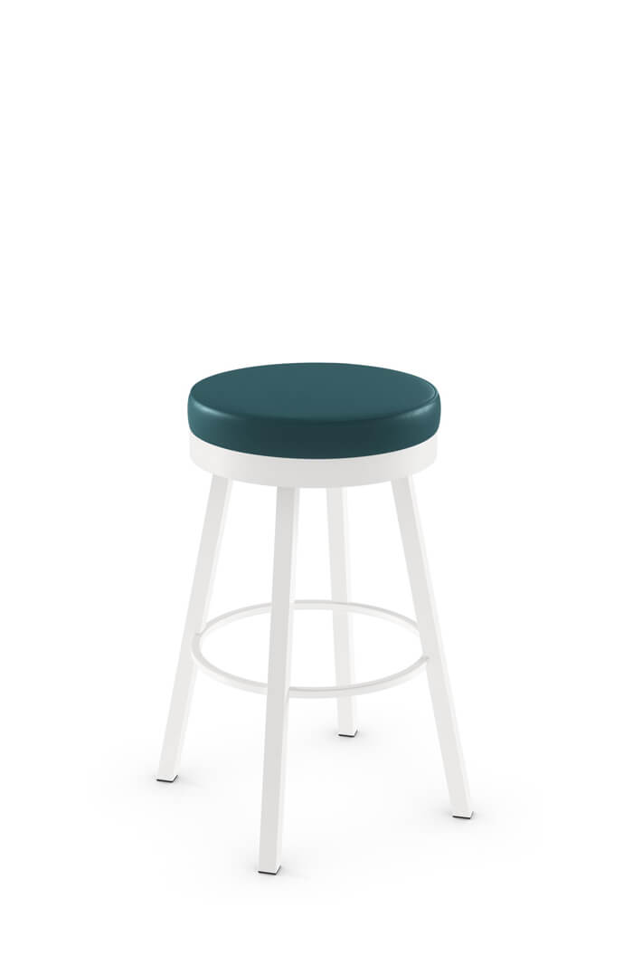 Amisco Rudy Backless Round Swivel Stool