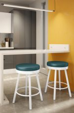 Amisco Rudy Backless Swivel Stool in Modern Kitchen