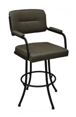 Tobias Designs M-110 Metal Swivel Stool with Padded Armrests